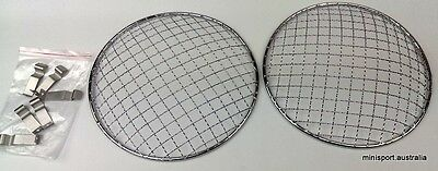 "7"" head lamp/light stone guard covers (mesh)- fitted to many classic cars (MINI"