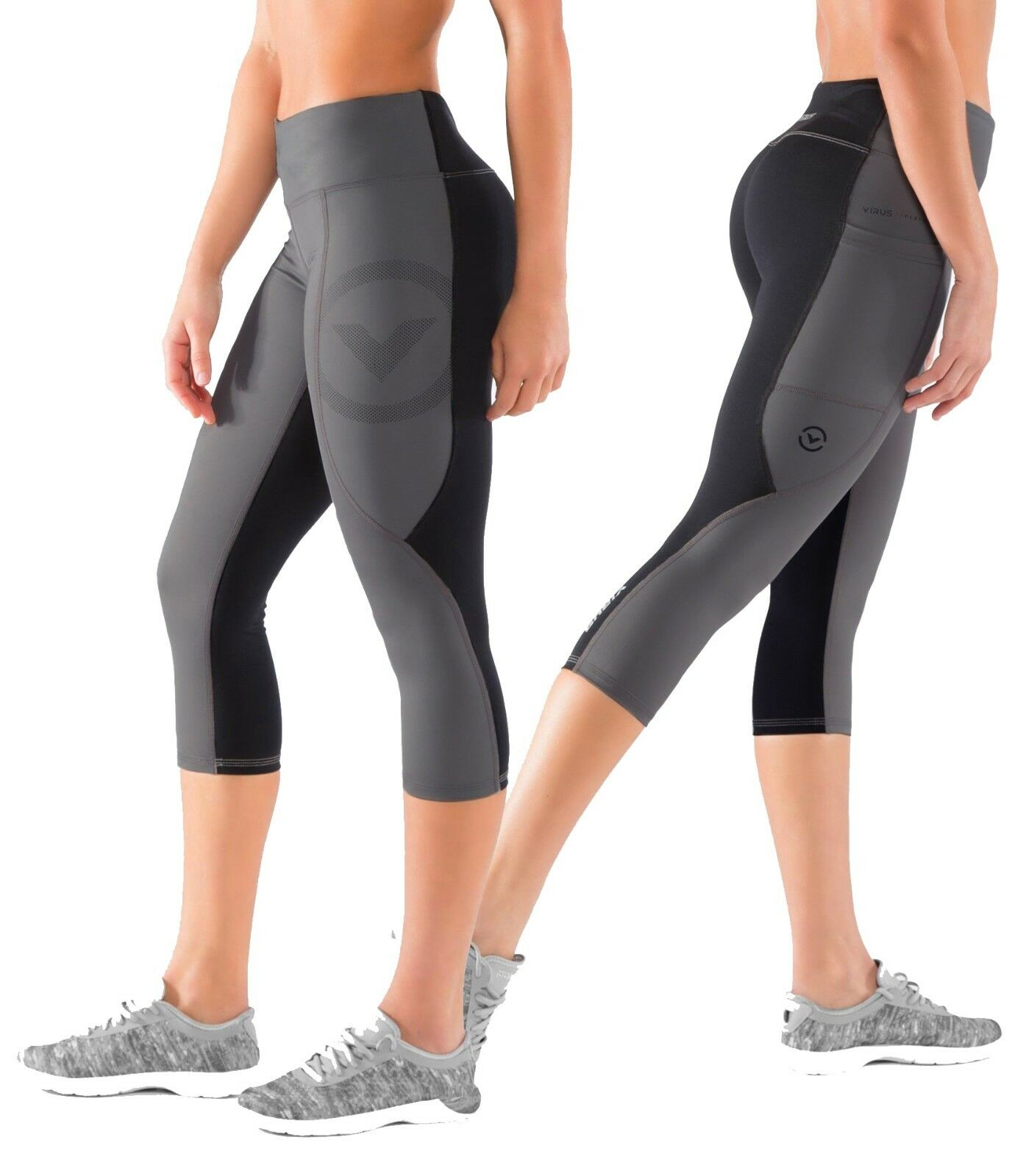 Virus Women's Stay Cool Compression Crop Pants (Eco34),crossfit,gym,workout,yoga