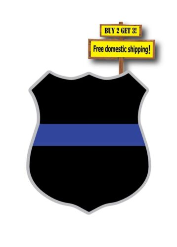 Thin Blue Line Badge//Shield Police Support the Fallen Decal//Sticker  TB7