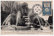 1946 PARIS FRANCE UNESCO Exposition PC Postcard POSTMARKS Stamps UNITED NATIONS