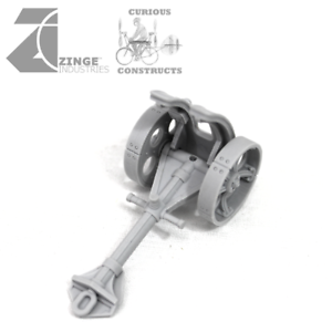 Zinge Industries Steampunk Gun Carriages x3 and guns x3 Field Battery S-ART04 B