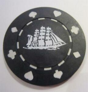 9bff2401374 Cutty Sark Clay Composite Vintage Poker Chip Set 10 Clipper Ship ...