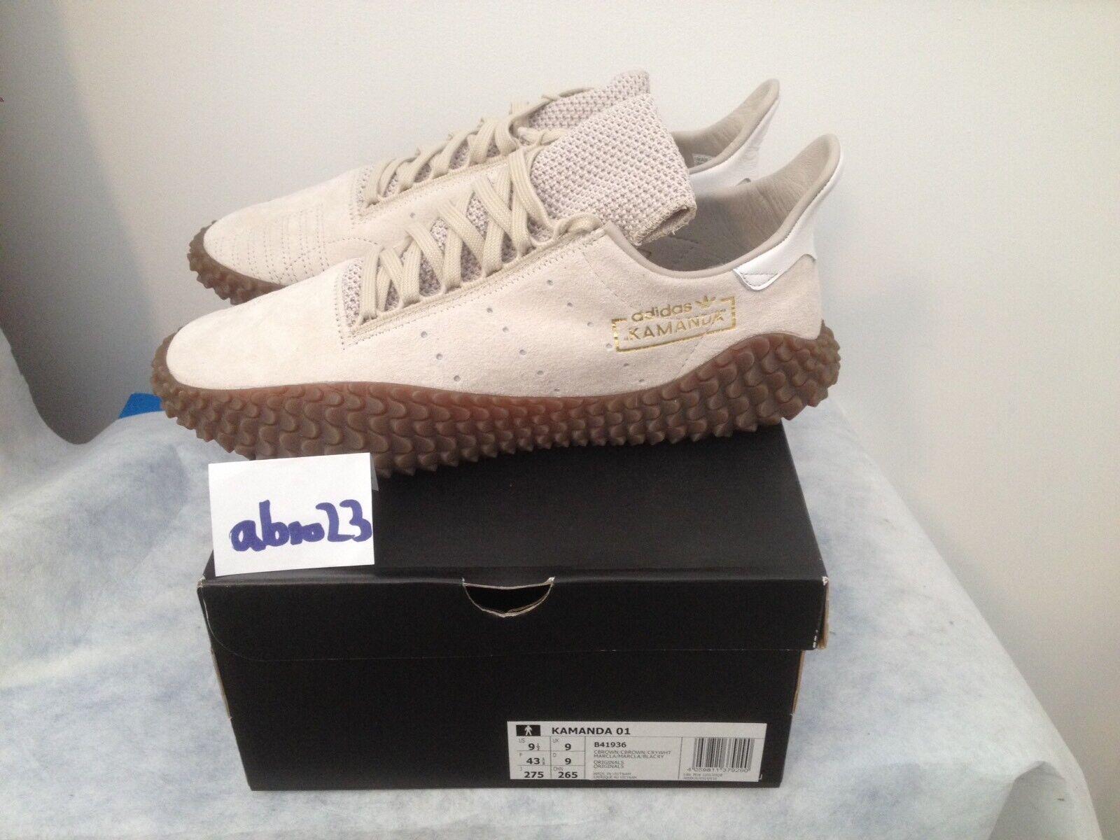Adidas KAMANDA 01 in 42 2 3 UK 8.5 US 9 BNWT B41936 TITAN NEU