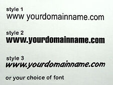 """Domain name sign - 900 x 90 mm (36 x 3.1/2"""") - choice of style and color"""