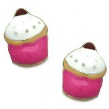 Ladies Womens Earrings - Cupcake Cake Shaped Stud Earrings - Brand New