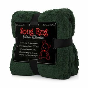Snug-Rug-Special-Edition-Luxury-Sherpa-Fleece-Snug-Rug-Throw-Blanket-Racing-Gre
