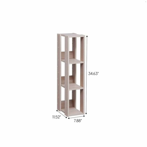 Entry Hall Shelving Unit Narrow Slim Skinny Stand Open Shelf For Small Spaces