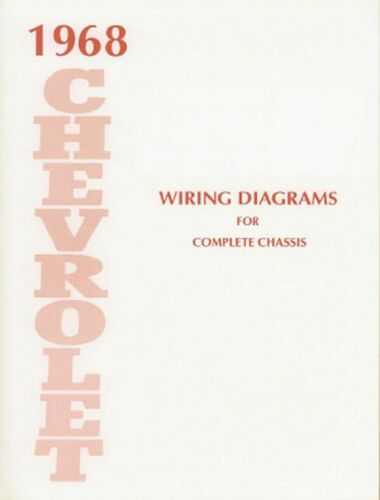 OEM Repair Maintenance Wiring Schematics Bound Chevy Belaire//Caprice//Impala 1968