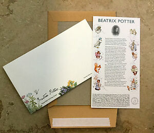 3 SETS of Beatrix Potter Royal Mail First Day Cover Envelopes + History Cards