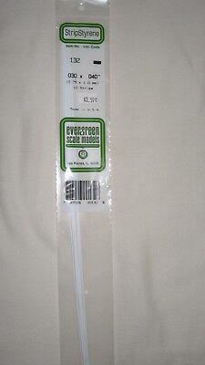 "Evergreen Strip Styrene 131 10 x .030 x.030/"" Strips"