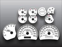 2003-2007 Silverado Truck Gas Dash Instrument Cluster White Face Gauges 03-07