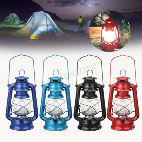 Tragbar 15LED Petroleumlampe Sturmlaterne Camping Outdoor Lampe Laterne