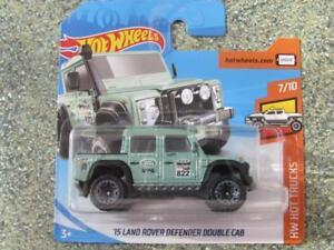 Hot-Wheels-2018-158-365-039-15-Land-Rover-Defender-Doble-Taxi-Verde-Nuevo-Casting
