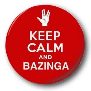 Keep-Calm-amp-BAZINGA-2-5cm-25mm-Boton-Insignia-BIG-BANG-THEORY-SHELDON-mano