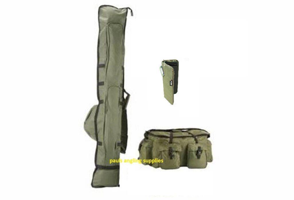 Carp Fishing Rod Holdall Carryall Bag & Rig Wallet