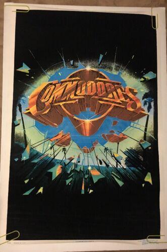 Commodores Black light Poster Vintage Flocked pin-up Music Memorabilia Velvet