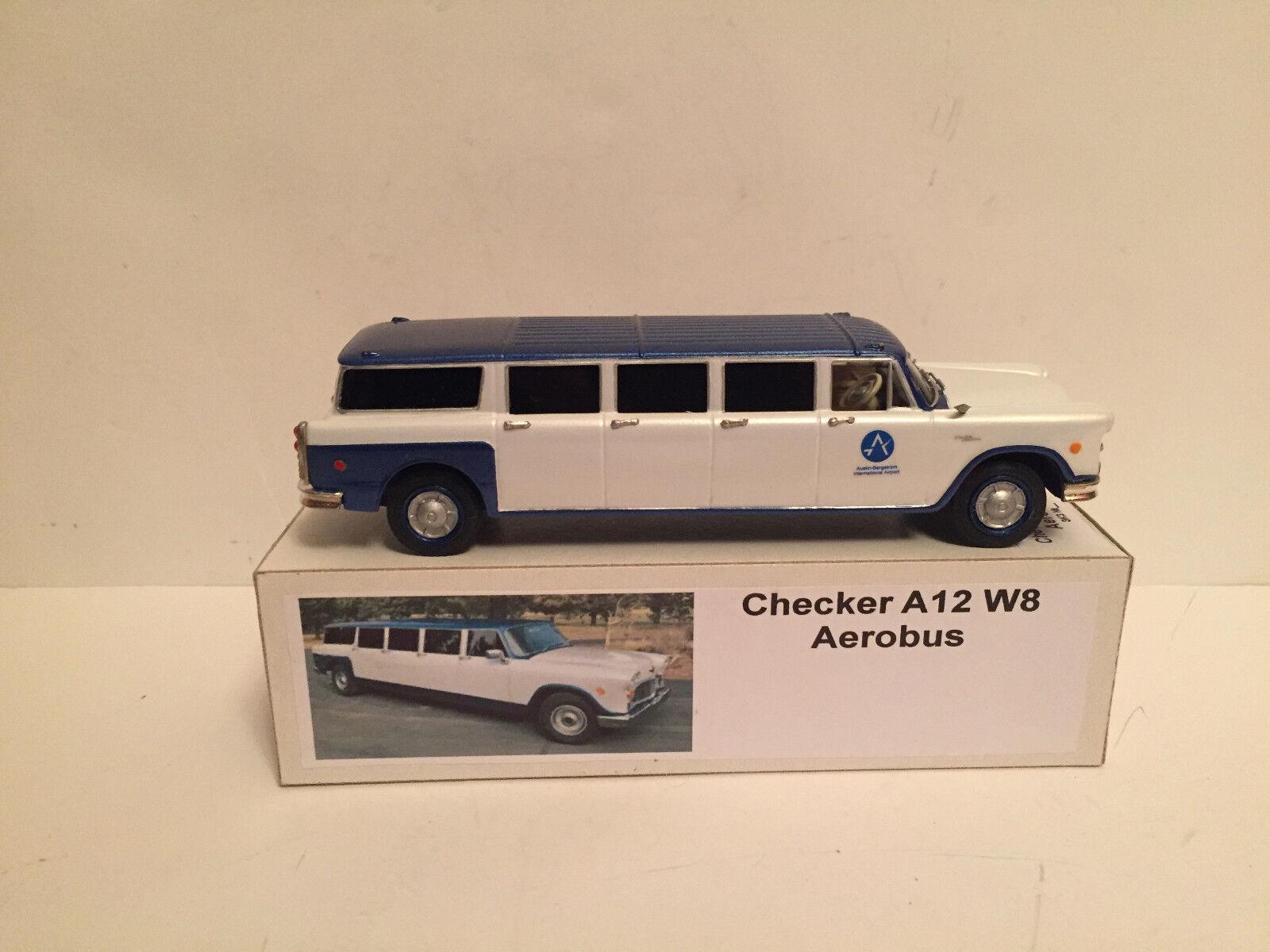 1 43 1960's Checker A12 W8 Aerobus Stretch Limousine    Handmade