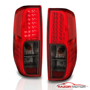 For 2005 2017 Nissan Frontier Red Smoke Led Rear Brake