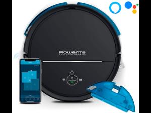 Robot aspirador - Rowenta RR7755WH, Serie 80 mopa, 70 dB, Con Animal Turbo, WiFi