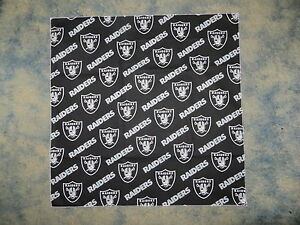 842d1469c27 NFL OAKLAND RAIDERS BLACK HEAD BANDANA - CHEERING CLOTH - APPROX 22 ...