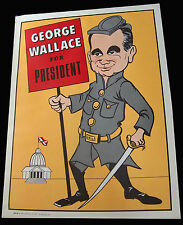 1968 George Wallace for President Caricature Poster