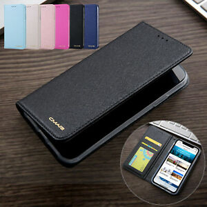 For-iPhone-11-Pro-Max-7-8-Plus-XS-XR-Luxury-Slim-Silk-Leather-Wallet-Stand-Cover