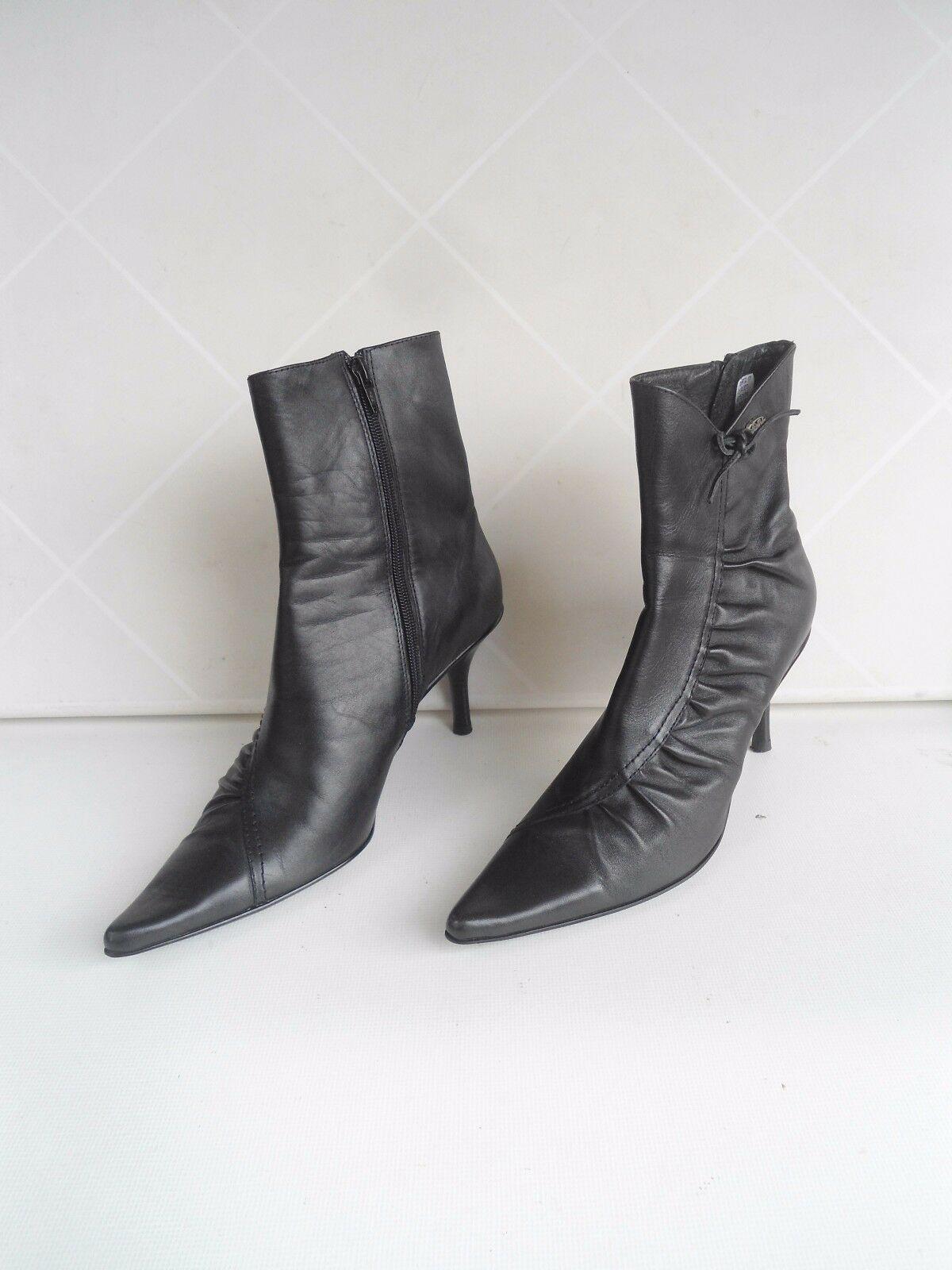 Damenschuhe von BUFFALO LONDON, Neu echtes Leder, schwarz, G:38, Neu LONDON, 3f9d3c