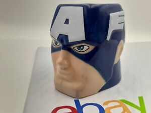 Marvel-Avengers-Captain-America-3D-Head-Ceramic-Coffee-Mug-Tea-Cup-10oz
