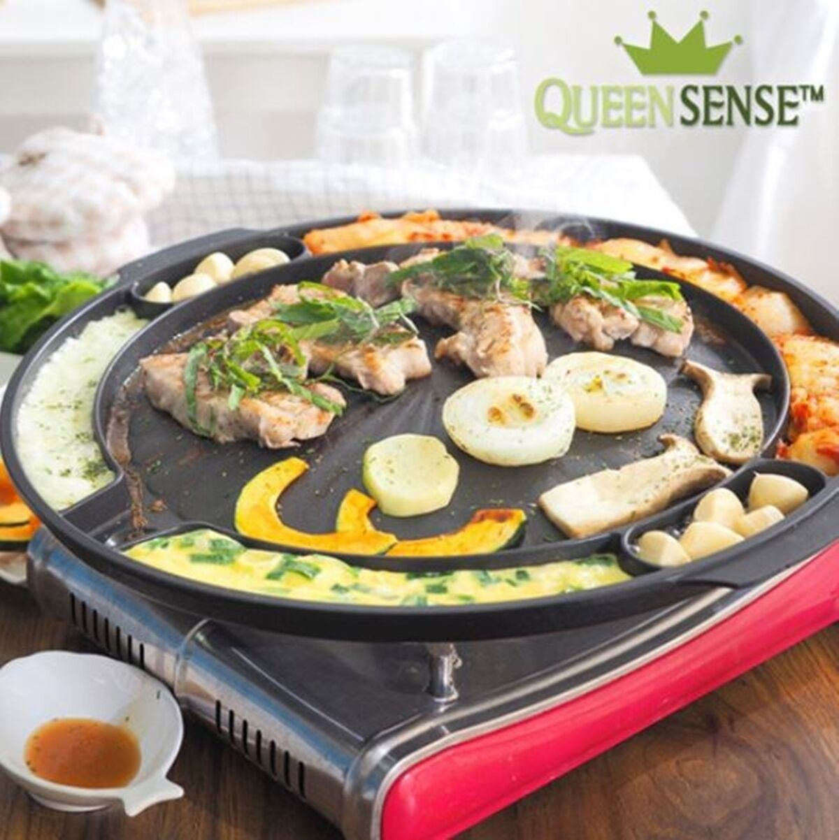 BBQ Multi Grill Pan Egg Crust Cheese Pork Camping Stove Top Home Garden Barbecue