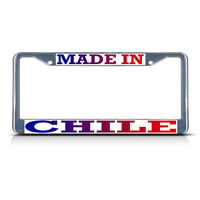 Made In Chile Metal License Plate Frame Tag Border Two Holes