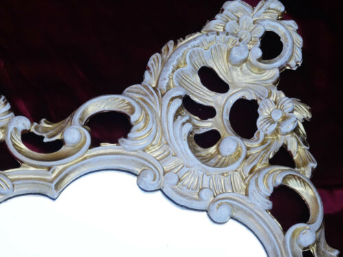 Exclusive ve baroque oval wall mirror in antique gold 50x76 decoration