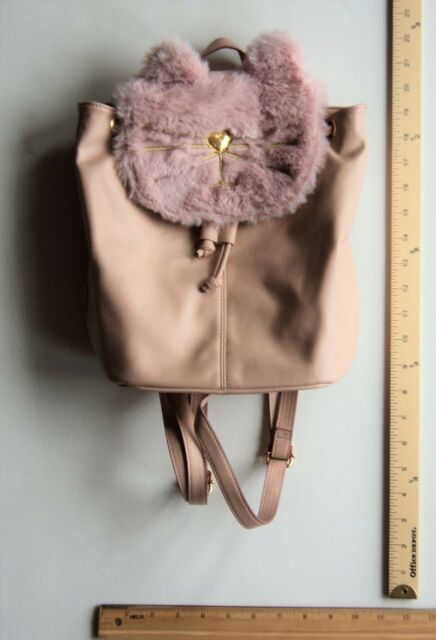864053743284d8 T Shirt Jeans BLUSH PINK Kitty Cat Face Back Pack Bag Purse BackPack FLASH  SALE