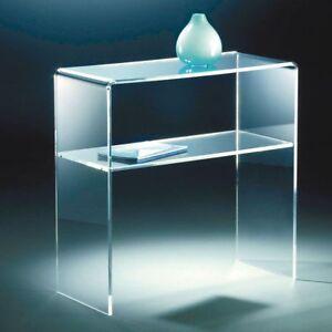 Comodino plexiglass trasparente comodino camera da letto comodino ...