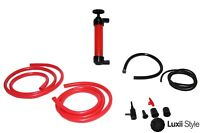 3 In 1 Siphon Hand Pump Transfer Kit For Air Fuel Liquid Hose Inflate Gas Hand
