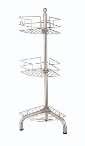 Standing Corner Shower Caddy.Details About 2 Pc Homezone 3 Tier Adjustable Standing Corner Shower Caddy Chrome
