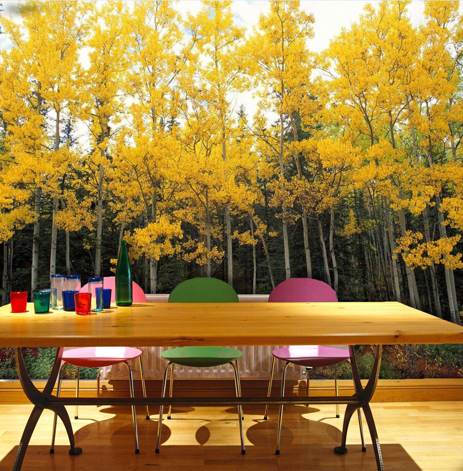 3D Herbst Wald Natürlich 933 Tapete Wandgemälde Tapeten Bild Familie DE Lemon | Öffnen Sie das Interesse und die Innovation Ihres Kindes, aber auch die Unschuld von Kindern, kindlich, glücklich  | Clearance Sale  | Sale Outlet