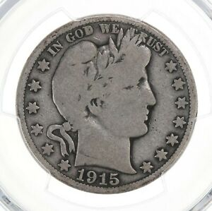 1915-Barber-50C-PCGS-Certified-VG08-Very-Good-Graded-Silver-Half-Dollar-Coin