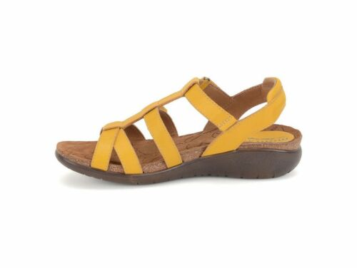 Black or Luggage NIB Montana Unity women/'s Comfort Leather Sandals in Yellow