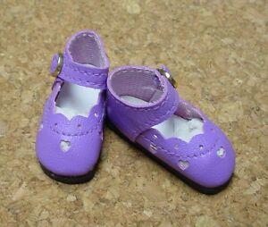 Global Bleuette Doll Shoes 42mm YELLOW Custom Heart Cut
