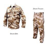 2 Pack - Desert SHIRT + Desert TROUSERS - British Army - Genuine Issue - Grade 1