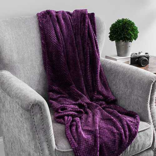 Plum Heavenly Bubble Throw.
