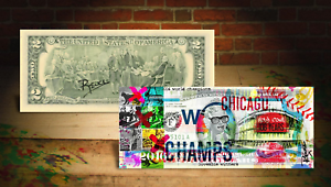 2016-CHICAGO-CUBS-World-Champions-Wrigley-2-Bill-HAND-SIGNED-by-Artist-RENCY