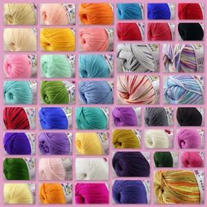 1254e5d936d 1Ball x50g Soft Multi-Color Cashmere Silk Wool Hand knitwear ...