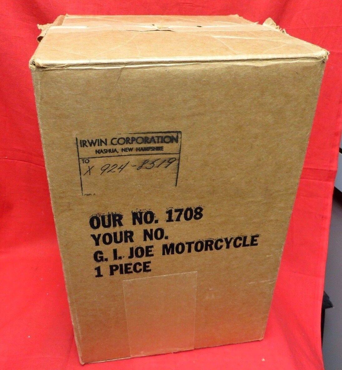 1964 VINTAGE GI JOE JOEZETA  SOTW IRWIN     EMPTY MAIL ORDER CATALOG SHIPPING scatola  migliore offerta