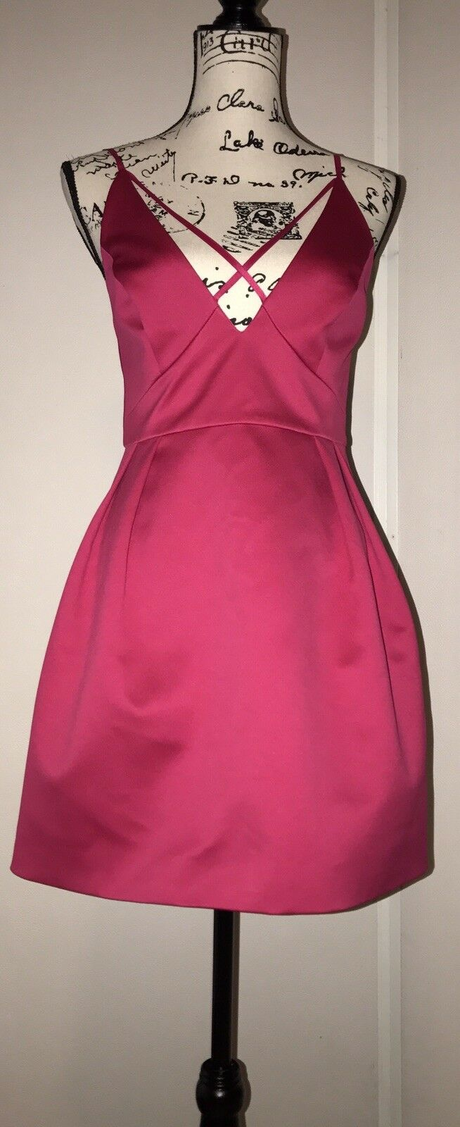 Topshop Cross Front Mini Dress Rosa Größe 6 US