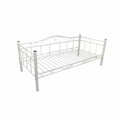 vidaXL Tagesbett Einzelbett 90x200 Metallbett Metall Bett Bettgestell Bett Sofa