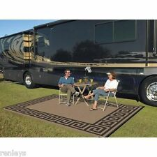 Indoor Outdoor Patio Mat RV 9u0027x12u0027 Reversible Camping Picnic Carpet Deck ...
