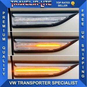 VW-T6-dinamico-que-fluye-Repetidores-Laterales-LED-claro-de-gran-calidad-2015-en-adelante-Nuevo