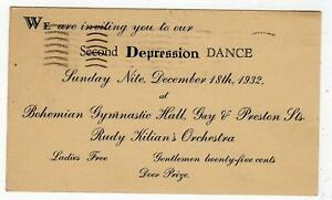 1932-2nd-DEPRESSION-DANCE-KILIANS-ORCHESTRA-BOHEMIAN-GYMNASTIC-HALL-BALTIMORE-MD