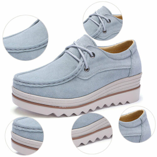 Women/'s Suede Casual Platform Sneakers Winter Fashion Loafers Flat Shoes Slip On